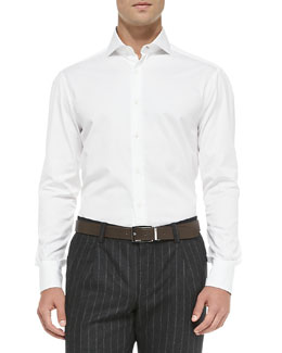 Slim-Fit Button-Down Shirt, White