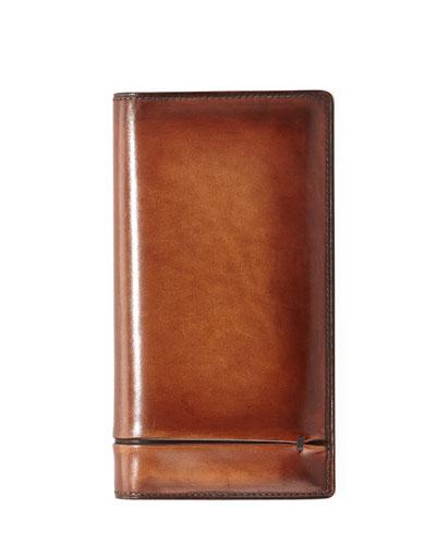 Ebene Venezia Leather Long Wallet, Brown