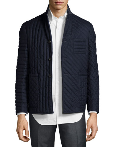 Mixed Quilted Flannel Jacket