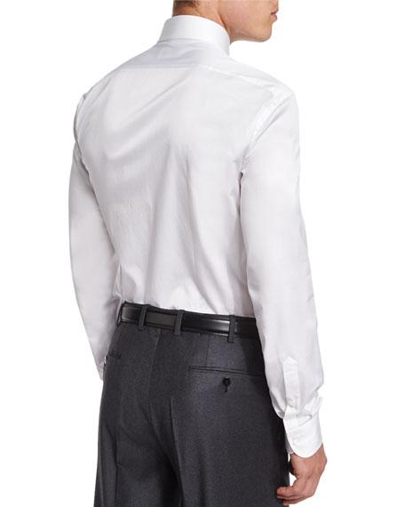 Basic Cotton Dress Shirt, White