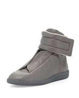 Future Leather High-Top Sneaker, Gray