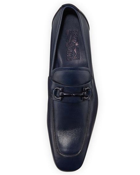 Soft Calfskin Gancini Loafer, Blue