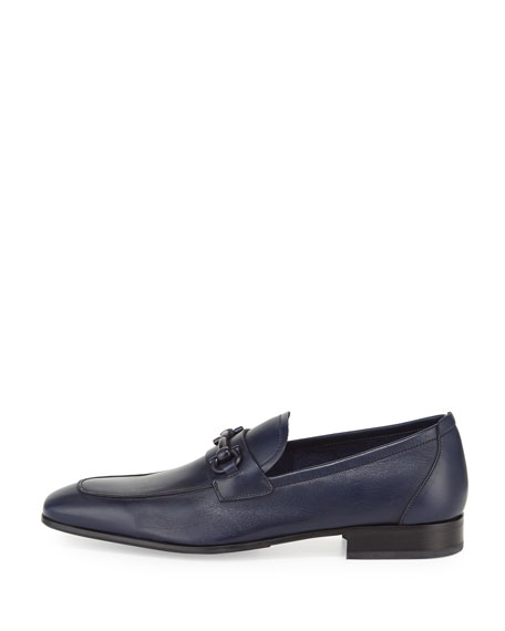 Soft Calfskin Gancini Loafer, Blue