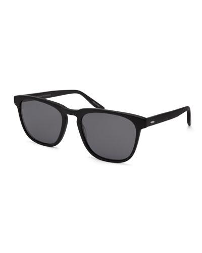 Cutrone Polarized Classic Square Sunglasses  Matte Black