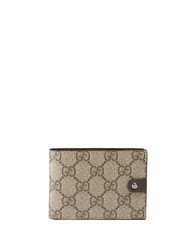Micro GG Supreme Canvas Bi-Fold Wallet, Neutral