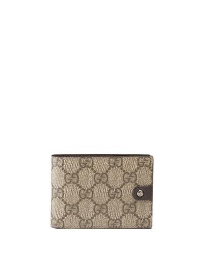 Micro GG Supreme Canvas Bi-Fold Wallet, Neutral
