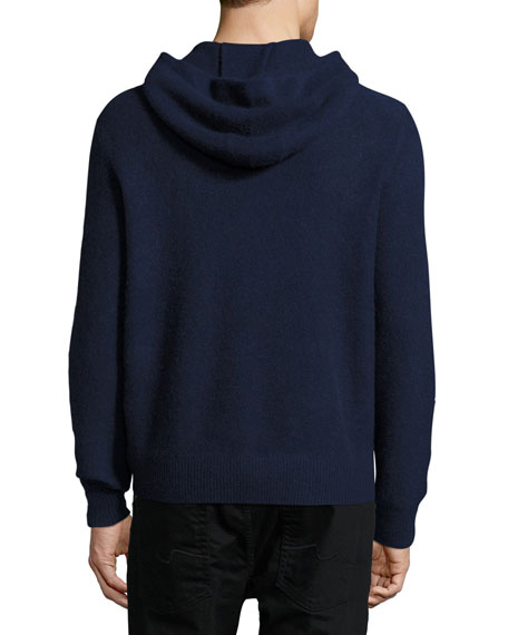 Boiled Cashmere Hooded Sweater