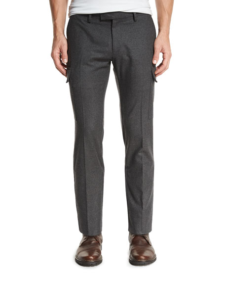 Ralph Lauren Flannel Cargo Pants, Charcoal