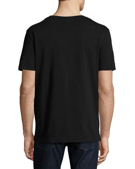 Washed T-Shirt w/GG Print, Black