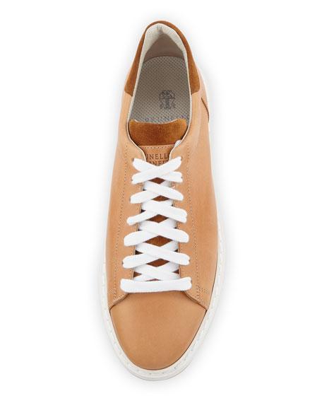 Men's Icarus Leather Sneaker, Beige