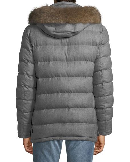 Rethel Fur-Trim Puffer Coat