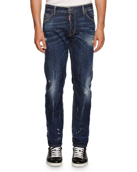 Dsquared2 Mac Daddy BB2 Straight-Leg Jeans, Blue
