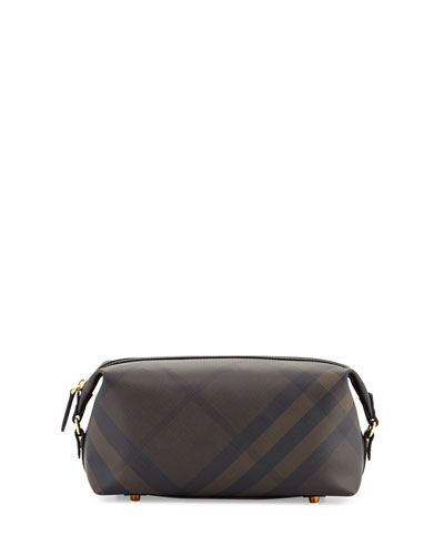Lance London Check Travel Toiletry Case, Chocolate