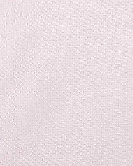 Micro-Gingham Dress Shirt, Pink