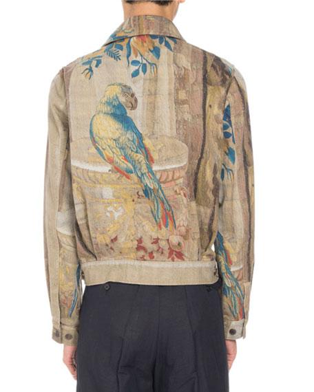 Venny Tapestry-Print Jacket, Sand