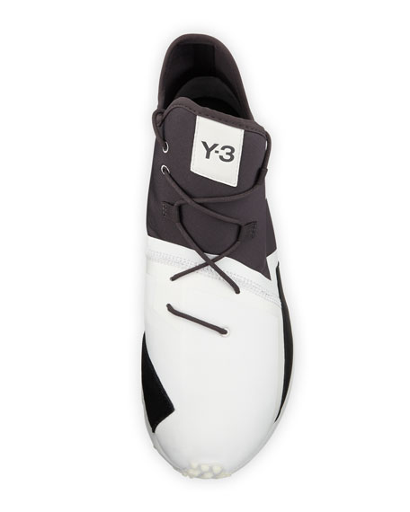 Men's Arc Mid-Top Textile Sneaker, White/Black