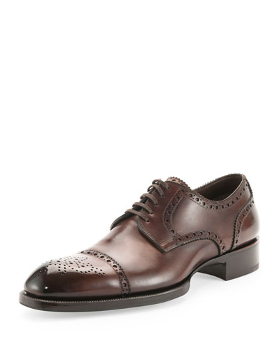 Edward Med-Cap Wing-Tip Brogue