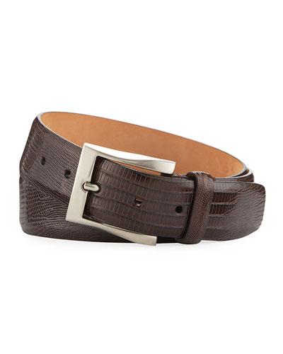 35mm Shiny Lizard Belt