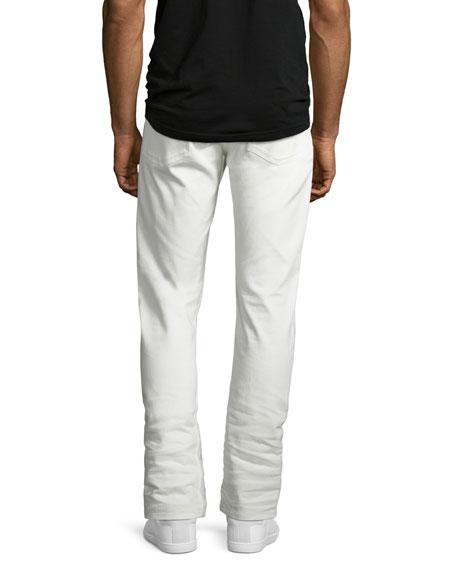 Five-Pocket Stretch-Cotton Pants, White
