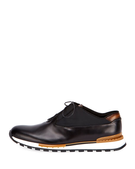 Fast Track Tornio Leather And Shell Sneakers - BlackBerluti 3RTBNLi