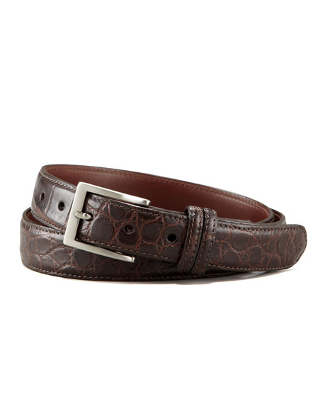 Matte Alligator Belt, Brown