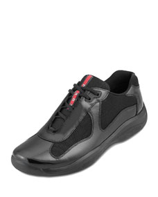 Black Patent Sneaker