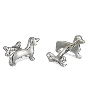 Dachshund & Bone Cuff Links