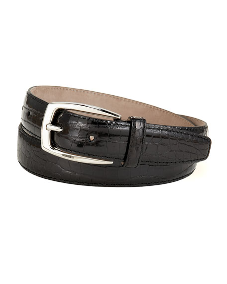 Shiny Croc Belt
