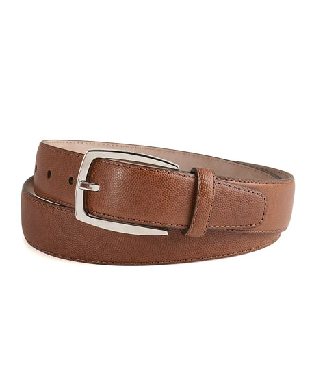 Stampa Caviar Leather Belt, Brown