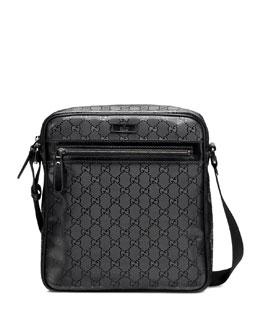 GG Coated Fabric Shoulder Bag