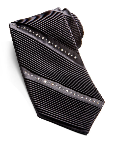 7a3c1cbc6ca2 Stefano Ricci Striped Crystal Tie