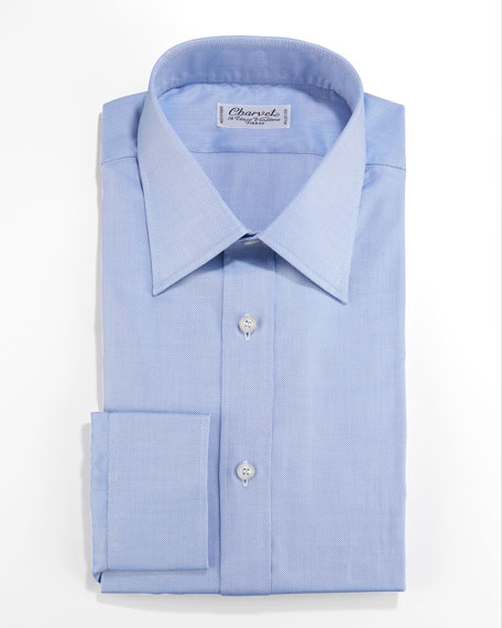 Textured Dress Shirt, Blue