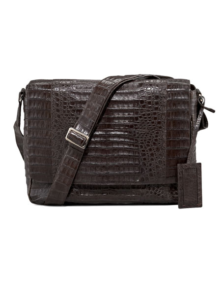 Crocodile Messenger Bag