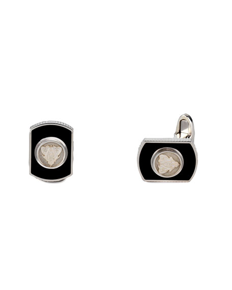 Crest Dogtag Cuff Links