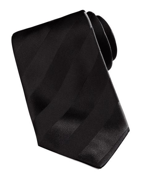 New Avanti Striped Tie, Black