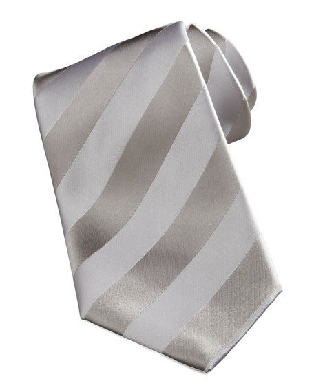 New Striped Tie, Silver