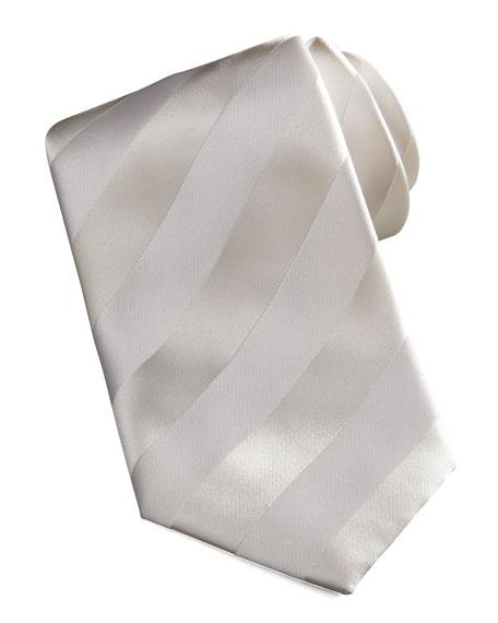 New Avanti Striped Tie, Off-White