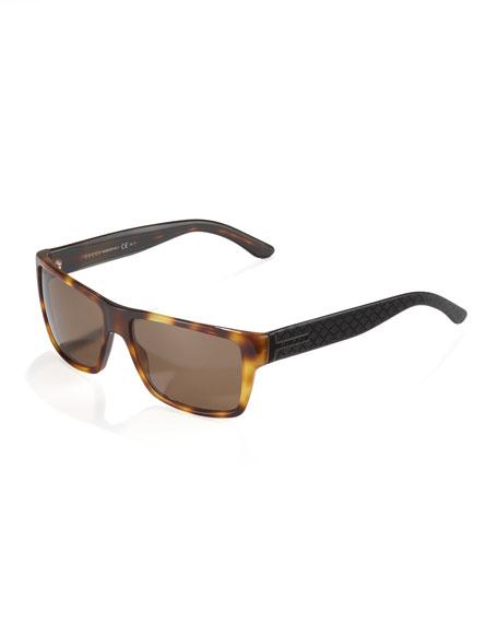 Diamante Plastic Sunglasses, Havana