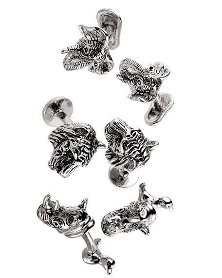 Rhino & Bird Cuff Links