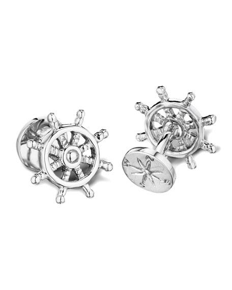 Ship Wheel & Compass Cuff Links