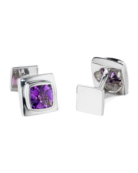 Amethyst Lucarne Cuff Links