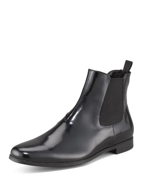 Spazzolato Ankle Boot with Goring