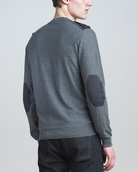 Two-Tone Military Sweater