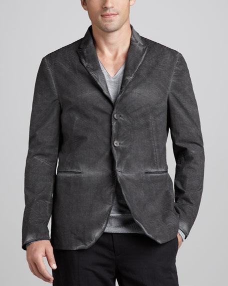 Peak-Lapel Soft Jacket