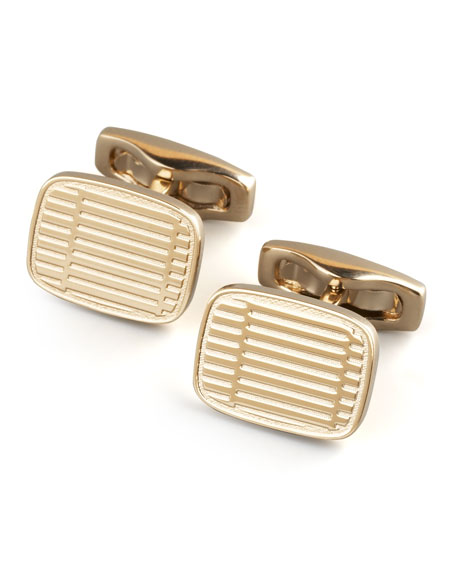 Rounded Square Cuff Links