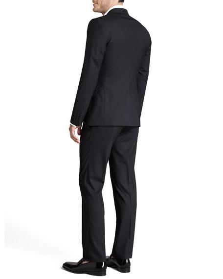 Martini Stretch-Wool Suit, Black