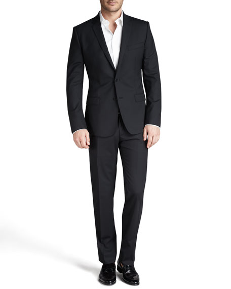 Martini Stretch-Wool Suit, Black