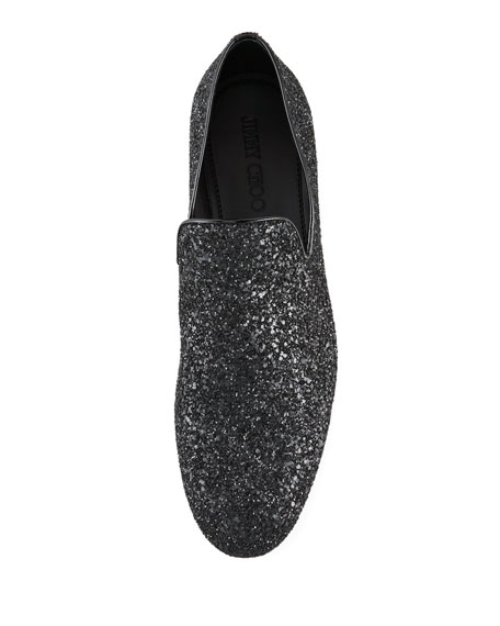 Sloane Glitter Slipper, Black