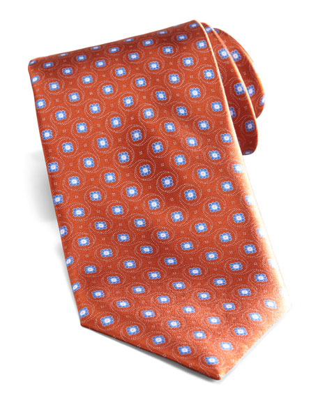 Flower-Dot Tie, Orange