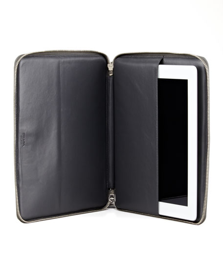 Saffiano Zip-Around iPad® Case, Gray